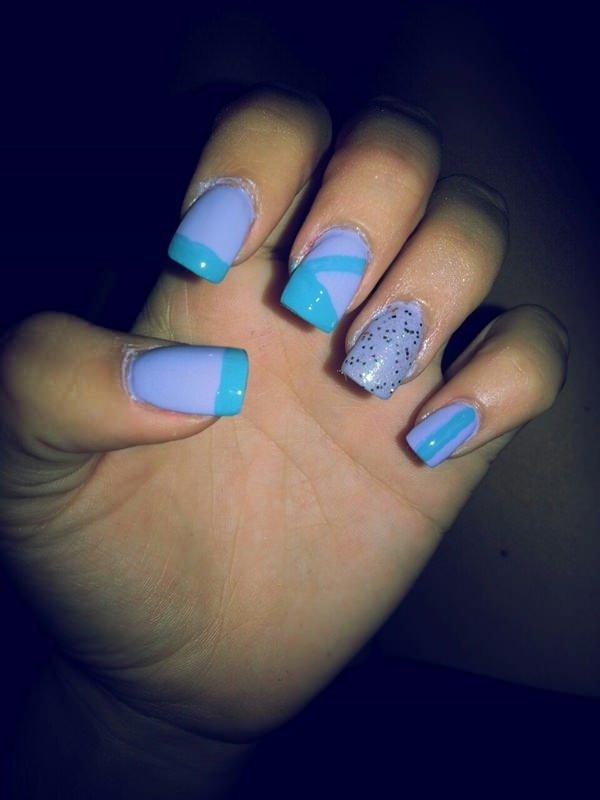 color, nail, finger, blue, nail care,