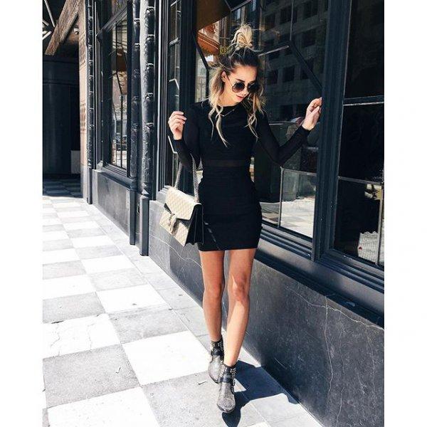 black, clothing, footwear, sleeve, dress,