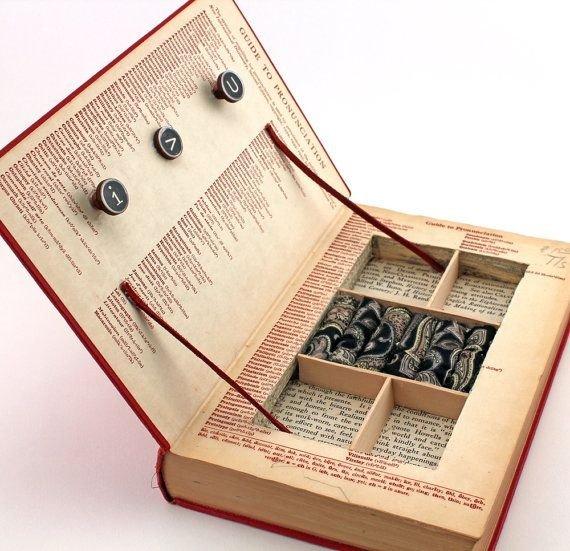 Vintage Book Jewelry Box