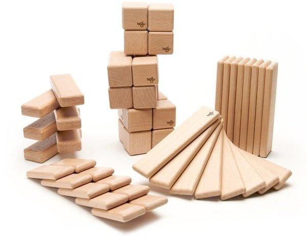 52 Piece Original Magnetic Wooden Block Set, Natural