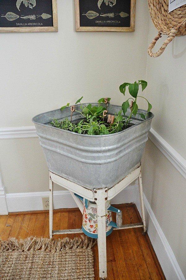 Use a Vintage Wash Tub