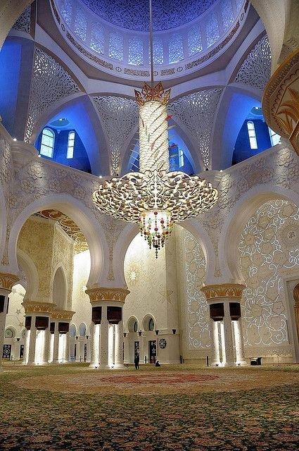 The Grand Mosque in Abu Dhabi, United Arab Emirates