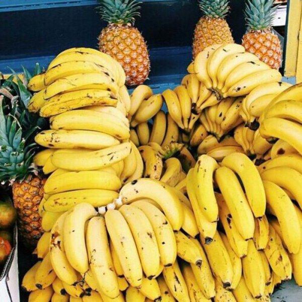produce, banana, fruit, food, plant,