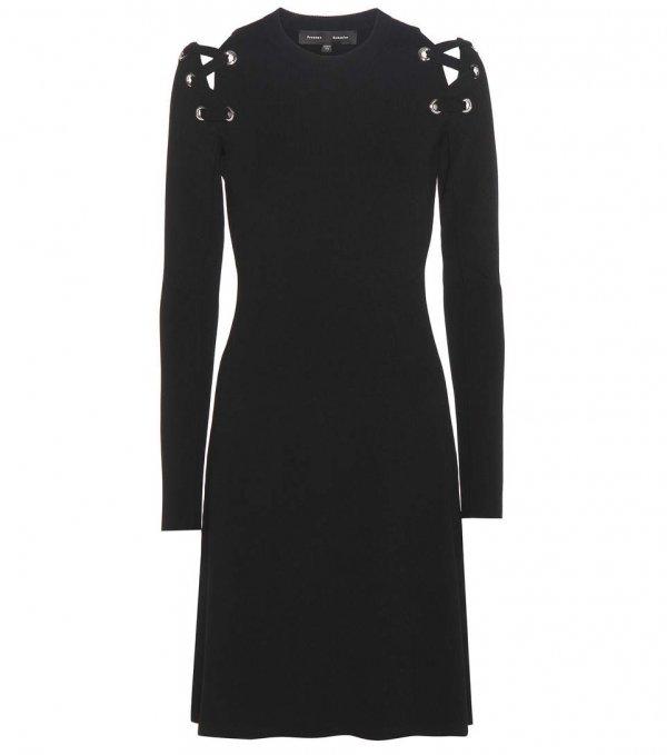 clothing, black, sleeve, day dress, dress,