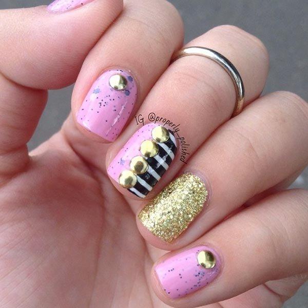nail, finger, pink, nail care, purple,