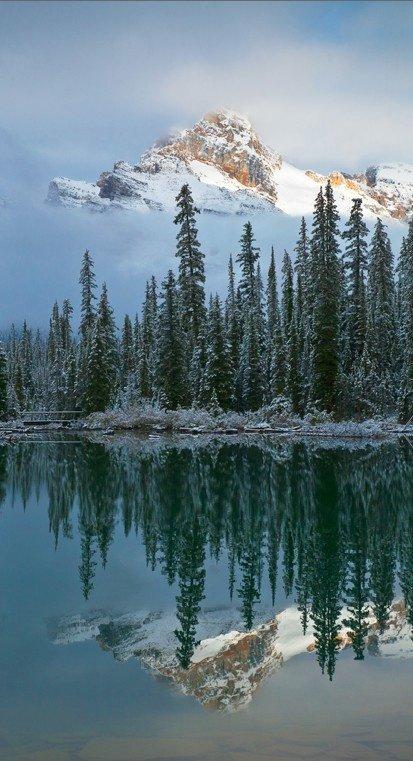 mountainous landforms,reflection,lake,nature,mountain,