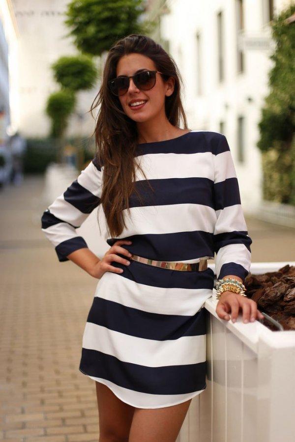 Wide Stripes, Short Dress!
