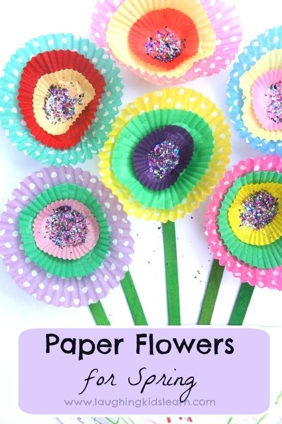 Simple Cupcake Paper Flowers