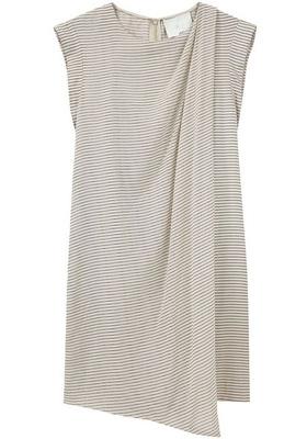 3.1 Phillip Lim Printed Drape Front Dress