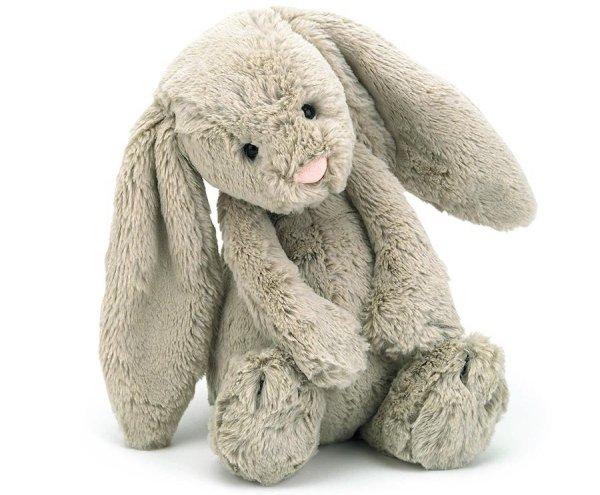 """Bashful Beige Bunny, Medium, 12"""""""