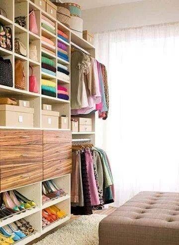 Colorful Wood Dream Closet