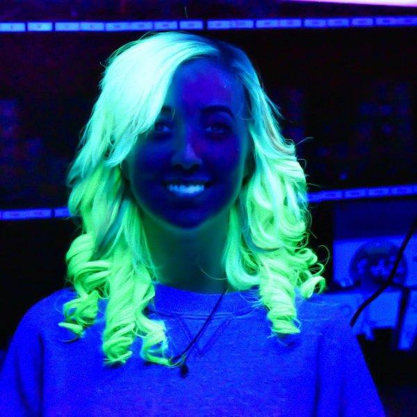 Her Glow-in-the-dark Curls
