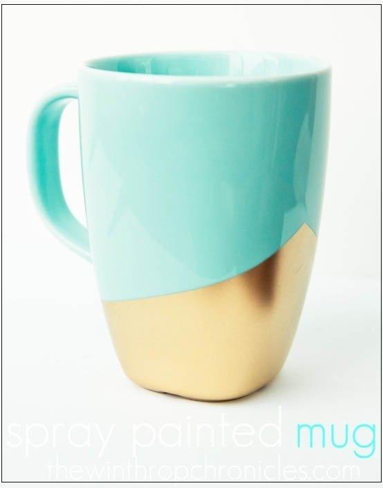 Gold-dipped Coffee Mug