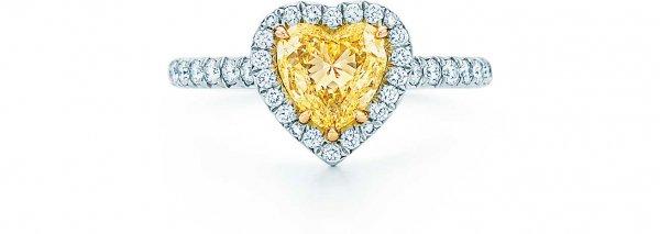 TIFFANY SOLESTE® HEART-SHAPED YELLOW DIAMOND RING
