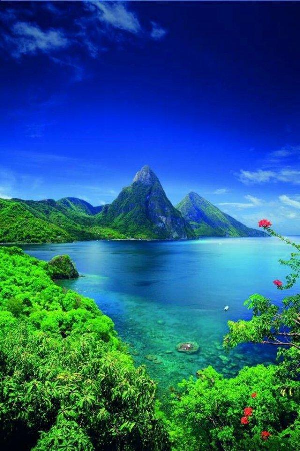 nature, green, mount scenery, vegetation, sky,
