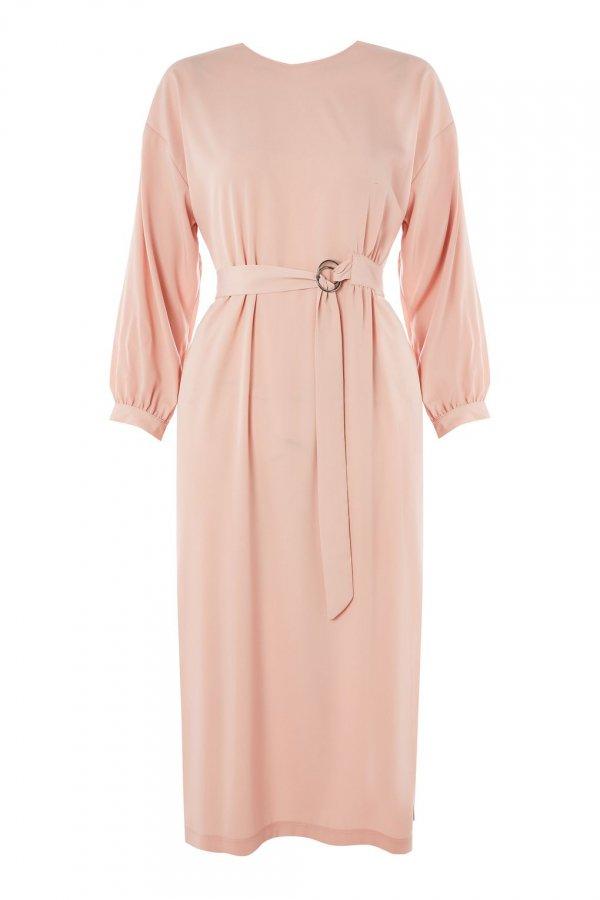 clothing, day dress, dress, pink, shoulder,