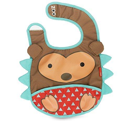 Zoo Tuck-Away Bib, Hedgehog