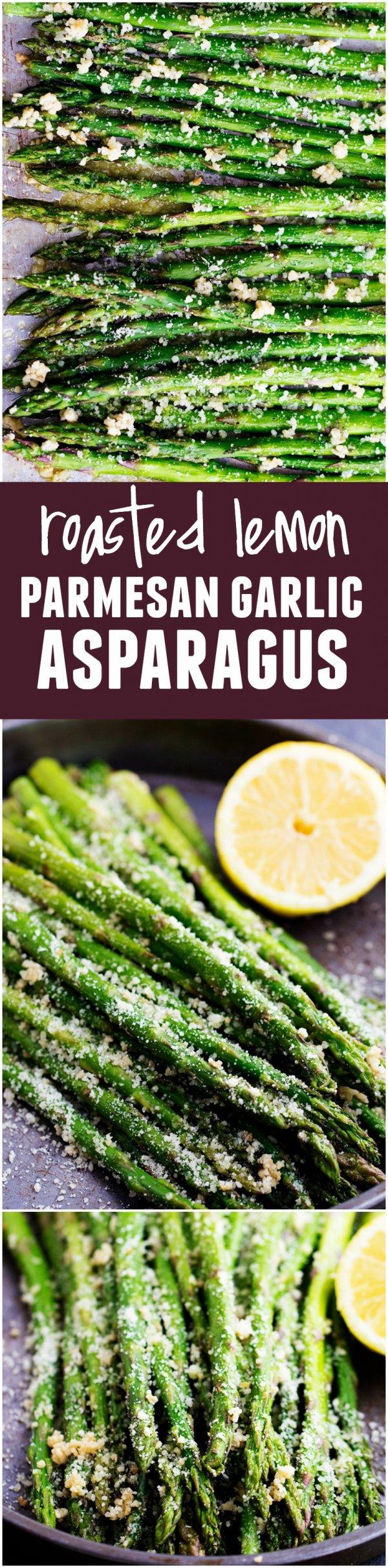 Roasted Lemon Parmesan Garlic Asparagus
