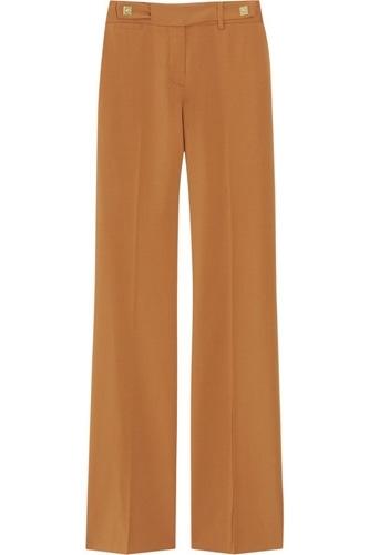 Diane Von Furstenberg Fimby Stretch-Wool Flared Pants