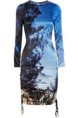 Roberto Cavalli Printed Silk-Jersey Dress