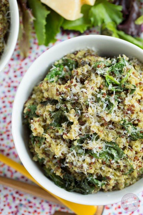 Spinach Pesto Quinoa Bowl
