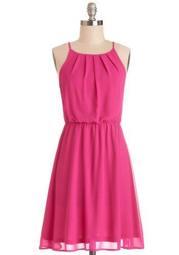 Dark Pink Party Dress