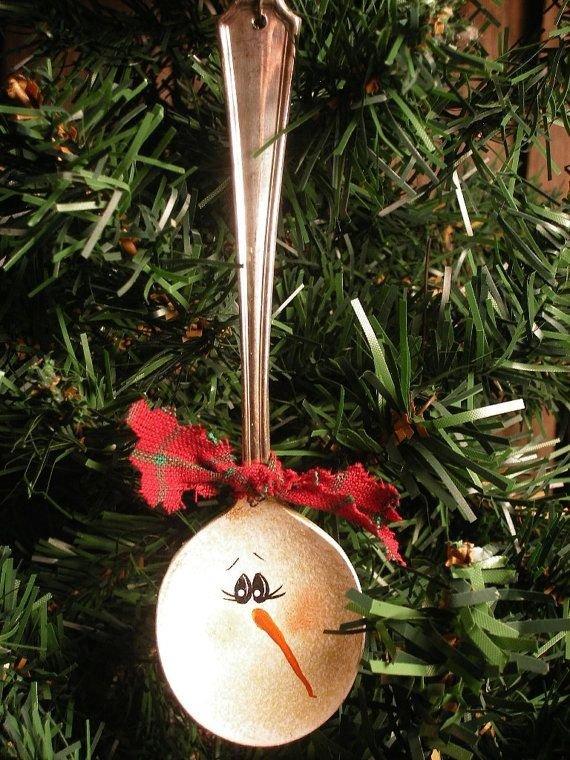 Snowman Silver Spoon