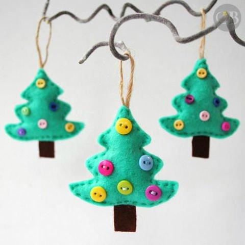 christmas tree, christmas decoration, earrings,