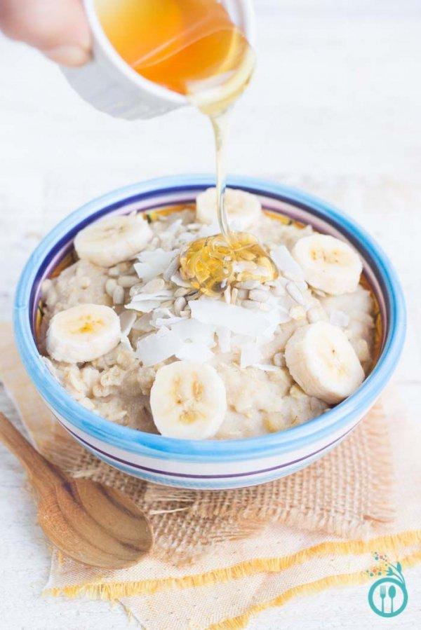 Recovery Quinoa Breakfast Bowl with Honey and Bananas