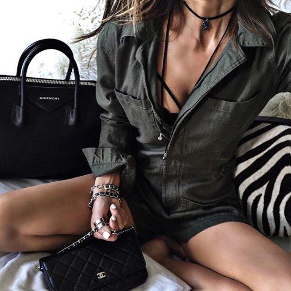 black, clothing, footwear, leather, lady,