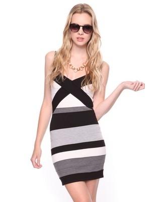 Criss Cross Colorblock Dress