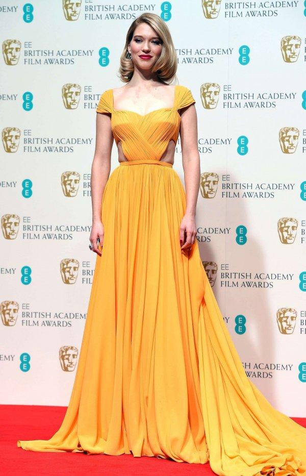 Léa Seydoux at the BAFTAs