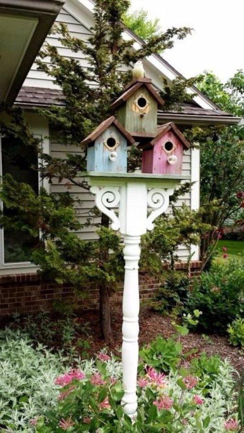 Flea Market Bird House Post