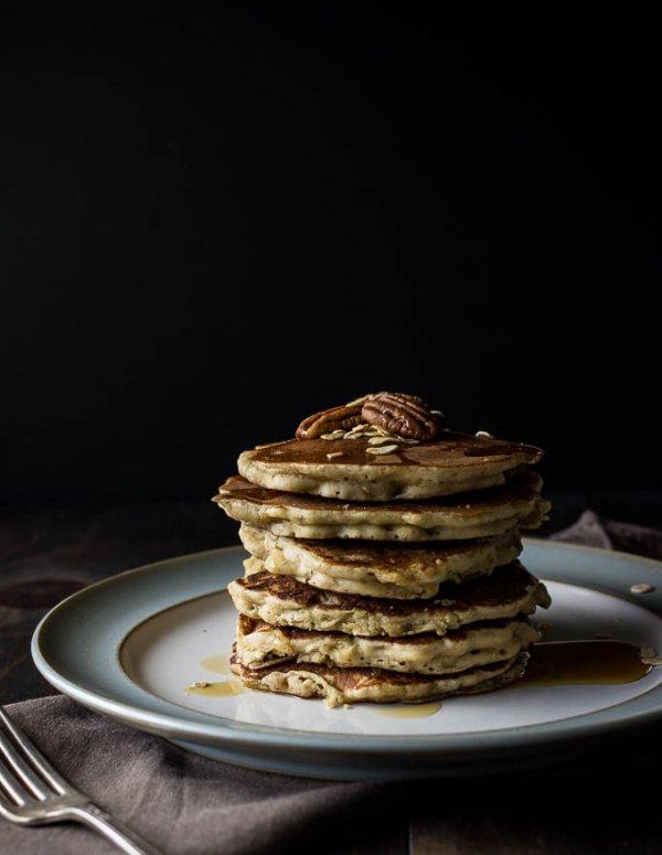 Gluten-free Oatmeal Nut Pancakes