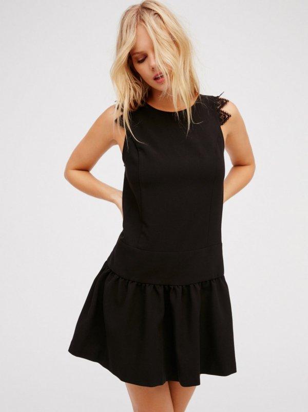 clothing, black, little black dress, sleeve, dress,