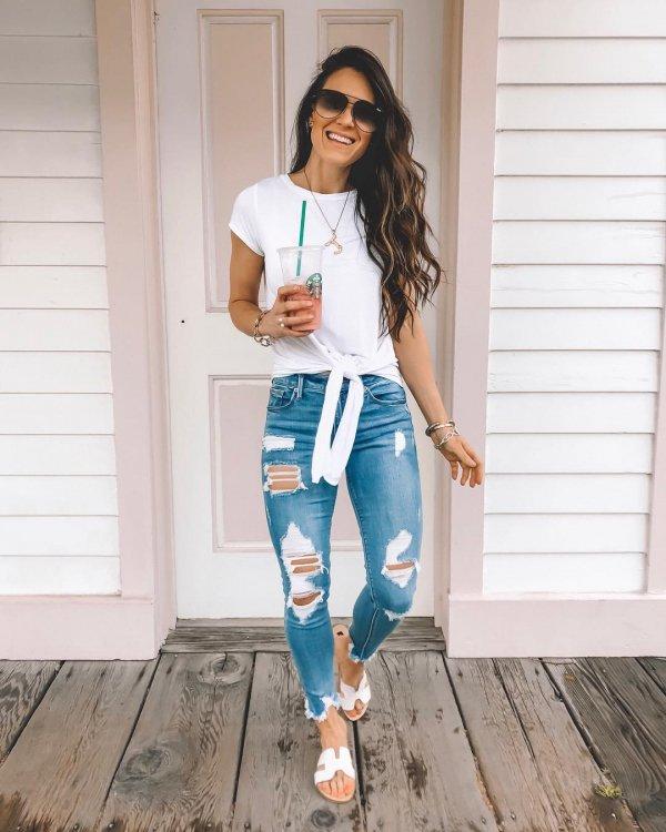 Clothing, White, Jeans, Turquoise, Denim,