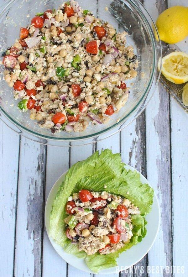 Mediterranean Tuna Lettuce Wraps