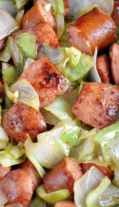 Kielbasa and Cabbage Skillet