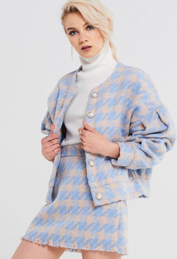 clothing, blue, plaid, outerwear, fashion model,