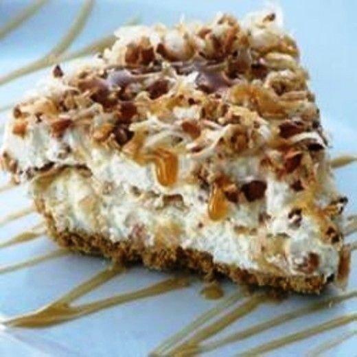 Frozen Caramel Coconut Pie