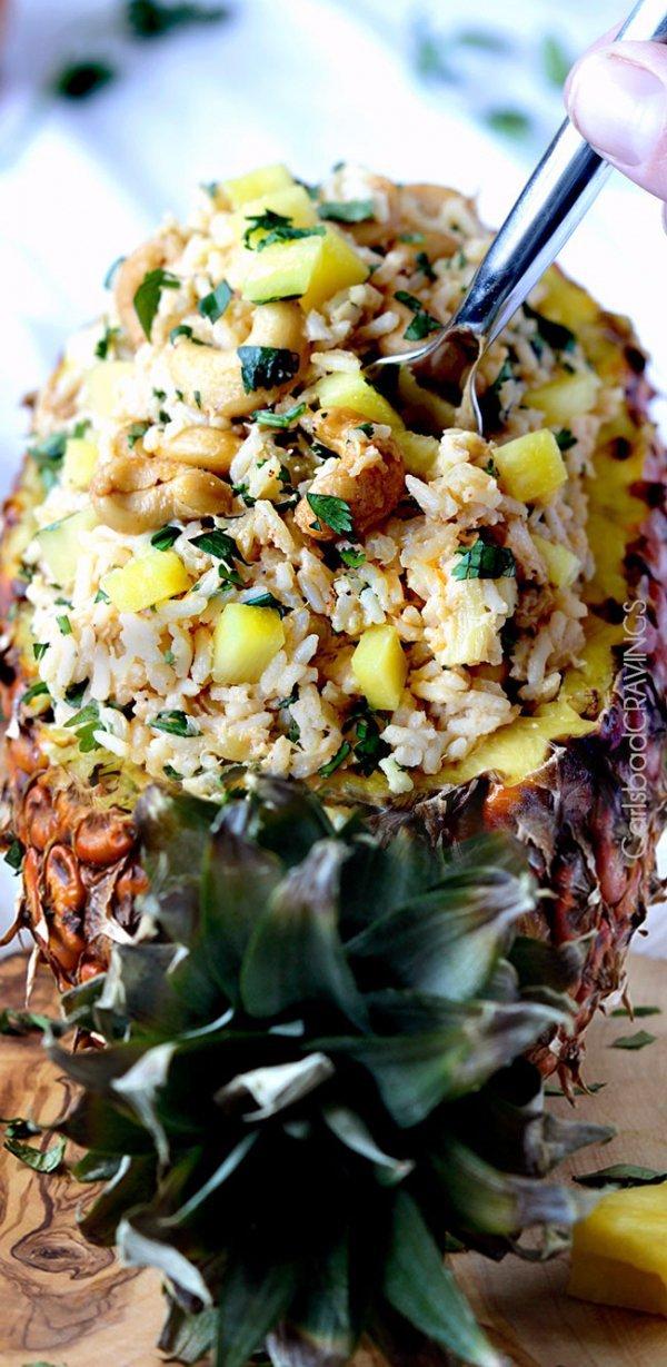 ananas, pineapple, food, vegetarian food, dish,