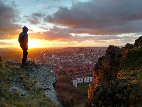 sky, rock, cloud, sunrise, terrain,