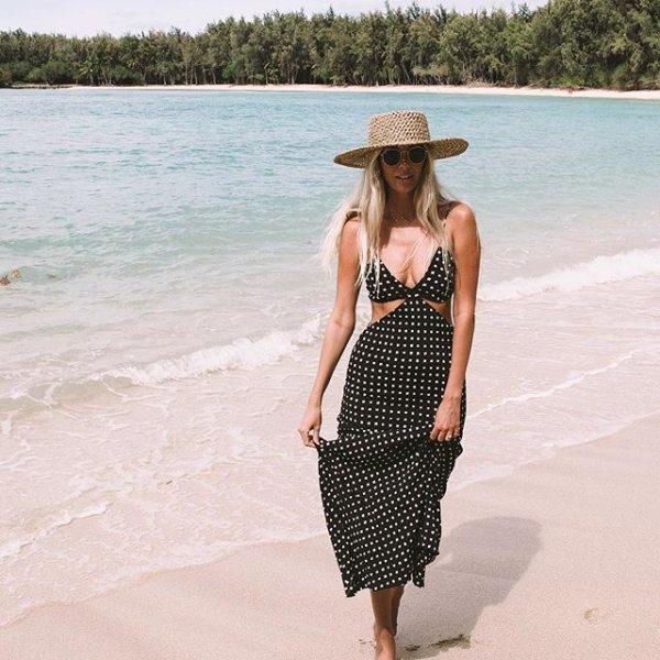 clothing, swimwear, polka dot, pattern, dress,