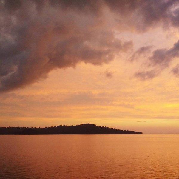 sky, horizon, afterglow, calm, red sky at morning,
