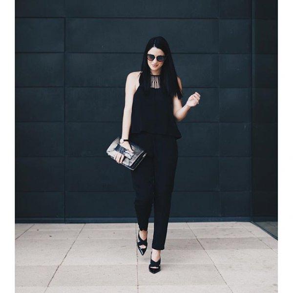 black, clothing, little black dress, footwear, sleeve,