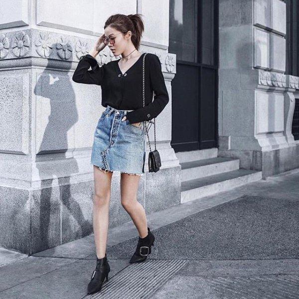 clothing, black, denim, footwear, leather,