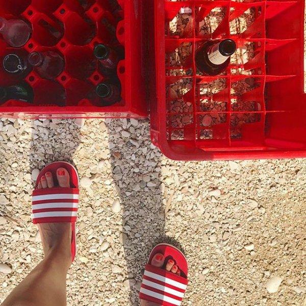 red, flooring, shoe, square,