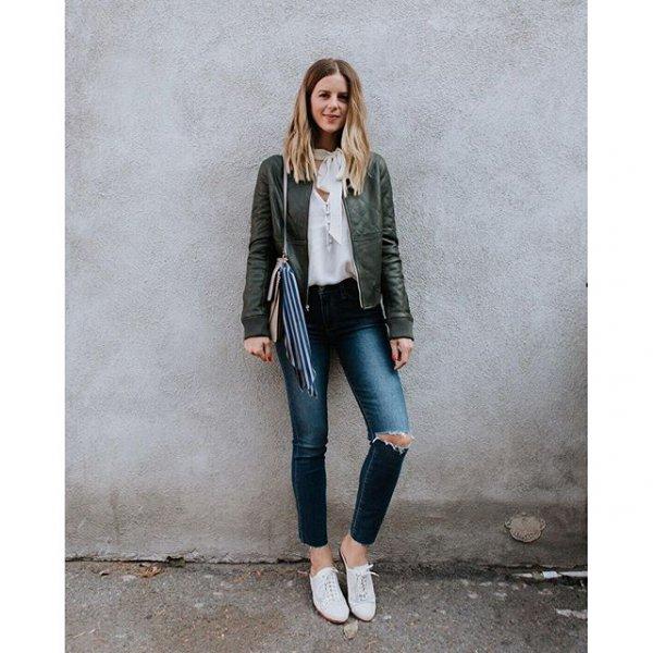 clothing, jacket, jeans, denim, leather,
