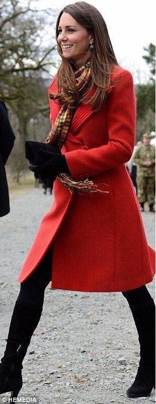 Red Armani Coat