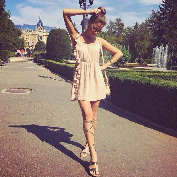 clothing, footwear, pink, dress, sunglasses,